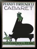 Pianist Forbundets Cabaret Framed Giclee Print by  Kage