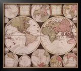 Atlas Major World Map Prints by  Dutch