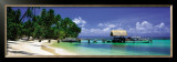Beach and Jetty with Boat, Pigeon Point, Tobago, Caribbean Prints by Tom Mackie