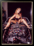Pin-Up Girl: V8 Engine Framed Giclee Print by David Perry