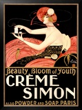 Creme Simone Bath Beauty Framed Giclee Print by Emilio Vila