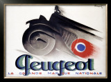 Peugeot Framed Giclee Print by Charles Loupot