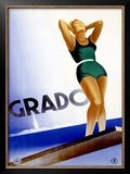 Grado Framed Giclee Print by Marcello Dudovich