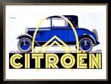Citroen Framed Giclee Print by Roger de Valerio