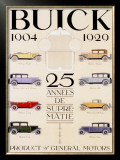 Twenty-Five Years of Buick Automobiles Framed Giclee Print