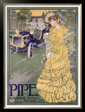 Pipe Framed Giclee Print by Georges Gaudy