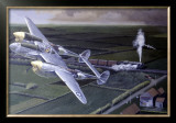 WWII, Lockheed P38 Lightning Framed Giclee Print by Paul Wollman