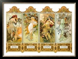 Seasons, 1896 Framed Giclee Print by Alphonse Mucha