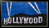 Hollywood Sign at Night Poster by Aaron Foster