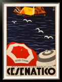 Cesenatico Framed Giclee Print by  Retrosi