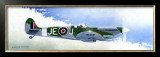 Spitfire MK9 Framed Giclee Print by Douglas Castleman