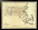 State of Massachusetts, c.1795 Framed Giclee Print by Mathew Carey
