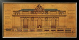 Grand Central Façade Print by Roger Vilar