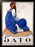 Sato Cigarettes Framed Giclee Print by Charles Loupot