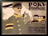 Poky Zundkerze Framed Giclee Print by Hans Rudi Erdt