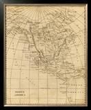 North America, c.1812 Framed Giclee Print by Aaron Arrowsmith