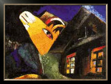 The Cowshed, c.1917 Posters by Marc Chagall