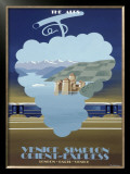 Venice Simplon, the Alps Framed Giclee Print by Pierre Fix-Masseau