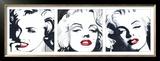 Marilyn Triptych Posters by Irene Celic