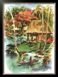 Samoa Framed Giclee Print by Louis Macouillard
