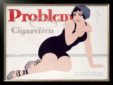 Problem Cigaretten Framed Giclee Print by Fries 