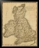 United Kingdoms, c.1812 Framed Giclee Print by Aaron Arrowsmith