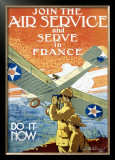 Join Air Service Framed Giclee Print by Jozef Paul Verrees