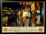 Southport, Evening Framed Giclee Print by Fortunino Matania