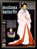 Madame Butterfly Framed Giclee Print by Ercole Brini