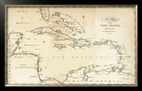 Map of the West Indies, c.1794 Framed Giclee Print by Jedidiah Morse