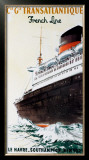Cie Gle Transatlantique Framed Giclee Print by Albert Brenet
