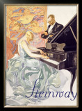 Steinway Framed Giclee Print by Werner Von Axster-Heudtlass