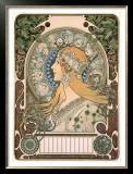 Zodiac Framed Giclee Print by Alphonse Mucha