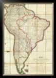 Mapa Geografico de America Meridional, c.1799 Framed Giclee Print by Juan De La Cruz Cano Y Olmedilla
