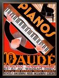 Pianos Daude Framed Giclee Print by Andre Daude