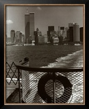 Manhattan from Ferry Print by Christopher Bliss