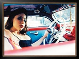 Pin-Up Girl: Low Rider Framed Giclee Print by David Perry