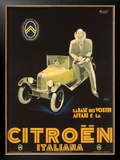 Citroen Framed Giclee Print by Marcello Nizzoli