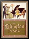 Ellington Piano Framed Giclee Print