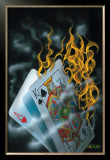 Burning Blackjack Posters by Michael Godard