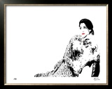 Cat Lounge III Limited Edition Framed Print by M.J. Lew