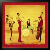 Jazz Band Poster by Thierry Ona