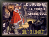 Le Journal Dubut De Laforest Framed Giclee Print by Paul Balluriau
