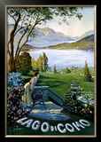 Lago di Como Framed Giclee Print by Elio Ximenes