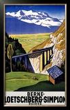 Berne-Loetschberg-Simplon Framed Giclee Print by Eugen Henziross