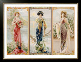 Three Silk Panels Framed Giclee Print by Gaspar Camps