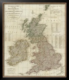 A Complete Map of the British Isles, c.1788 Framed Giclee Print by Thomas Kitchin