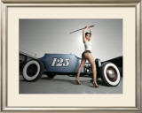 Hot Rod Samurai Pin-Up Girl Framed Giclee Print by David Perry