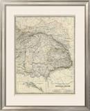 Austria East, c.1861 Framed Giclee Print by Alexander Keith Johnston