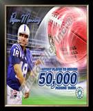 Peyton Manning 50,000 Yards Framed Photographic Print